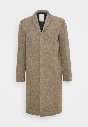 MONROE COAT - Classic coat - dark sand/dark brown