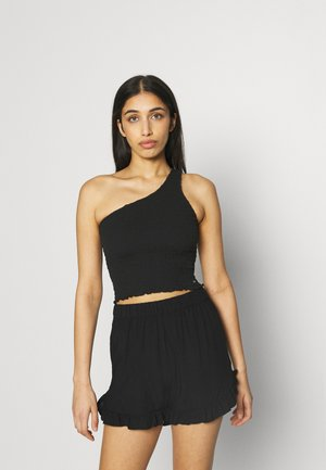 ONE SHOULDER  - Top - black