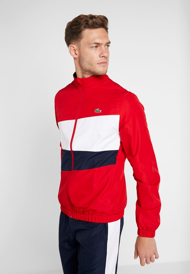Lacoste Sport - TRACKSUIT - Träningsset - red/white/navy blue