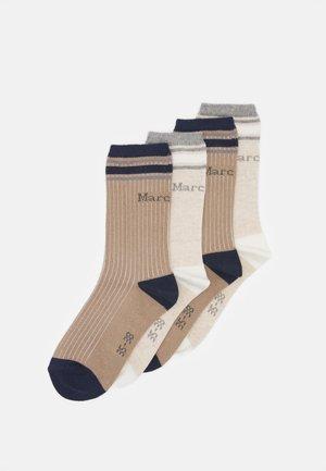 SOCKS 4 PACK - Ponožky - beige