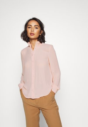 VMZIGGA HIGH NECK SMOCK - Blouse - sepia rose