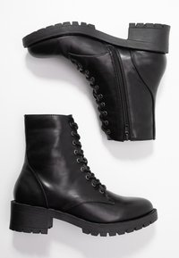 Bianco - BIACLAIRE - Lace-up ankle boots - black - 3