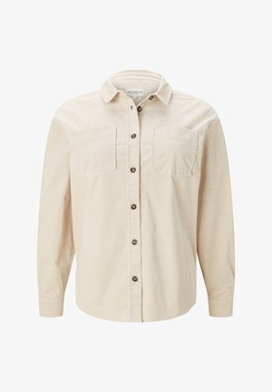 Button-down blouse - warm sand beige