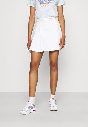 PLEATED TENNIS SKIRT - Miniskjørt - beige