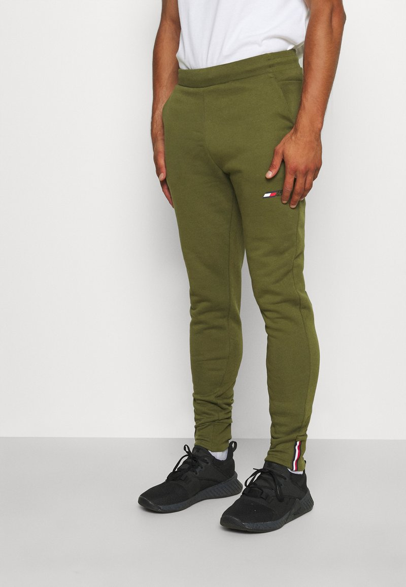 Tommy Hilfiger - LOGO PANT - Spodnie treningowe - putting green