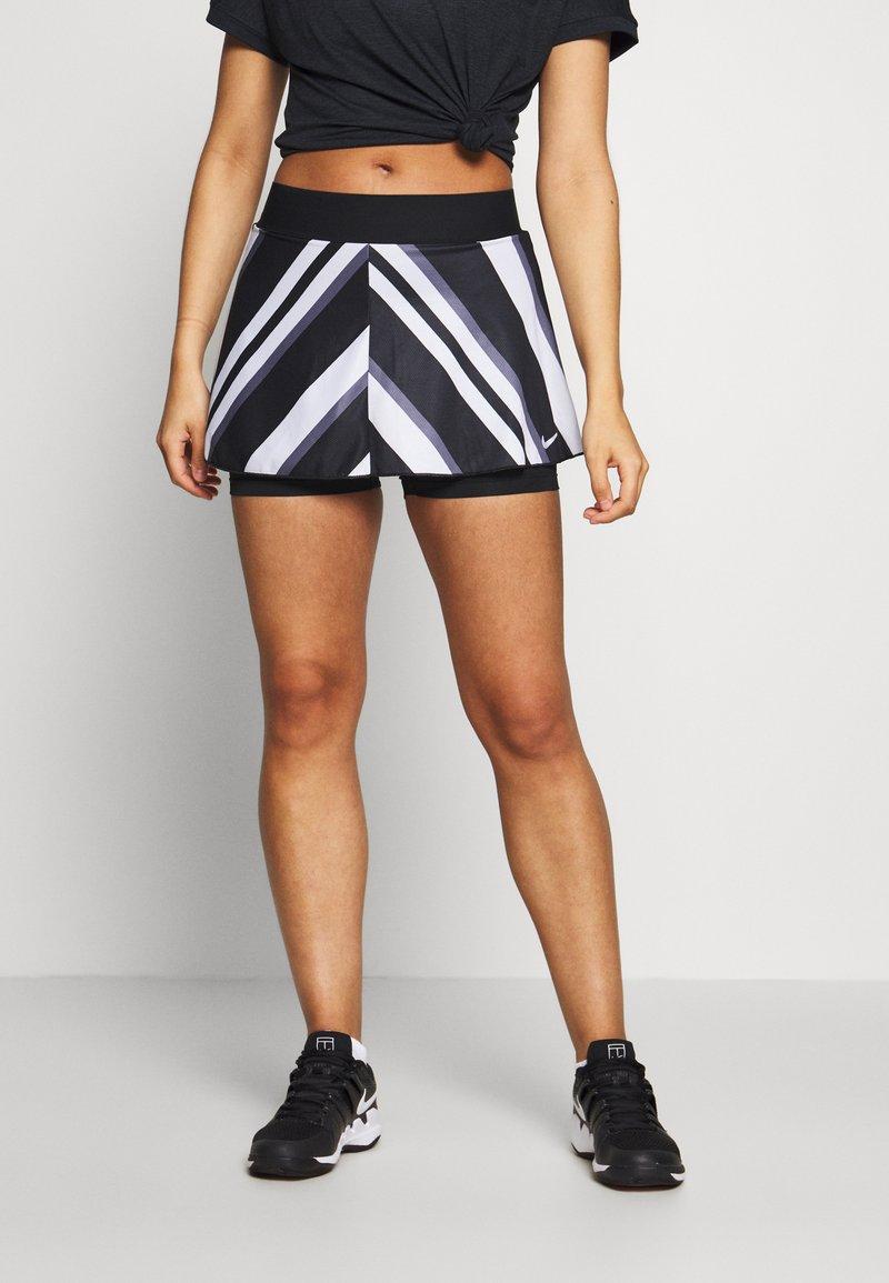 Nike Performance - FLOUNCY SKIRT PRINTED - Spódnica sportowa - black/white