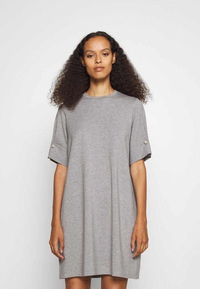 T-SHIRT DRESS WITH BAR - Jersey dress - grey marl