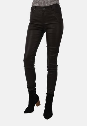 P ANDORA - Leather trousers - dark brown