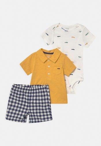 SET - Print T-shirt - yellow/blue