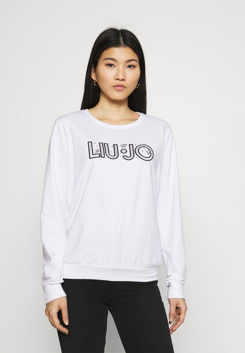 Liu Jo Jeans - FELPA CHIUSA - Sweatshirt - bianco