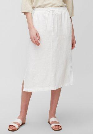 A-line skirt - white linen