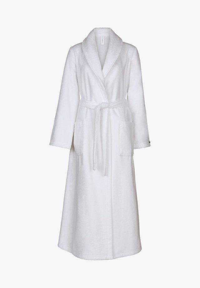MIT SCHALKRAGEN  - Dressing gown - weiß