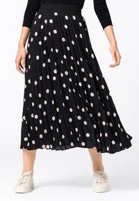 HALLHUBER - Pleated skirt - schwarz - 0