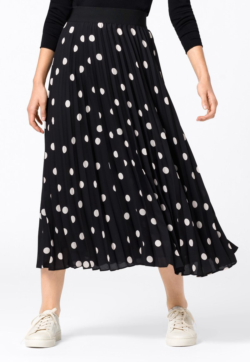 HALLHUBER - Pleated skirt - schwarz