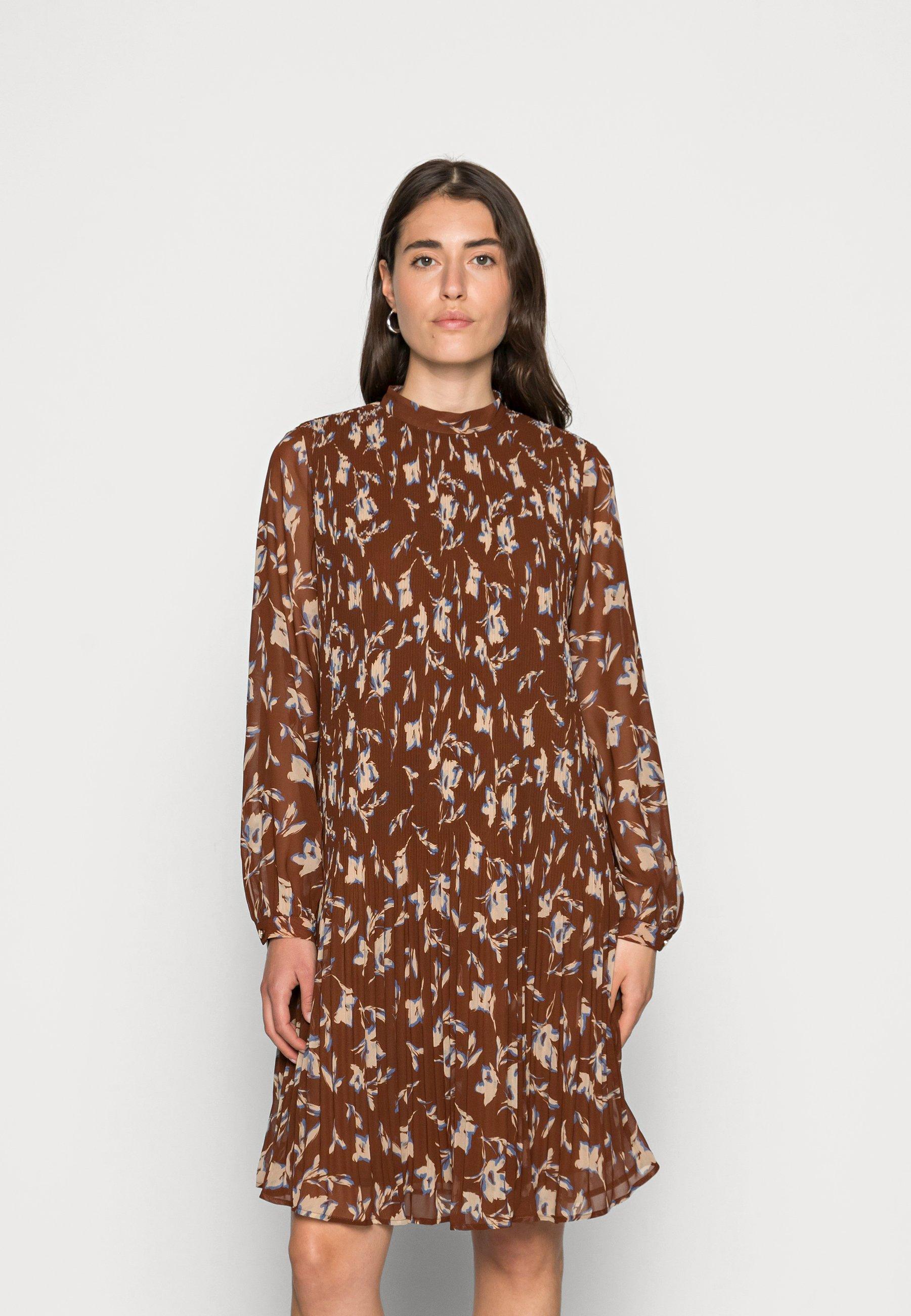 Women Shirt dress - terracotta