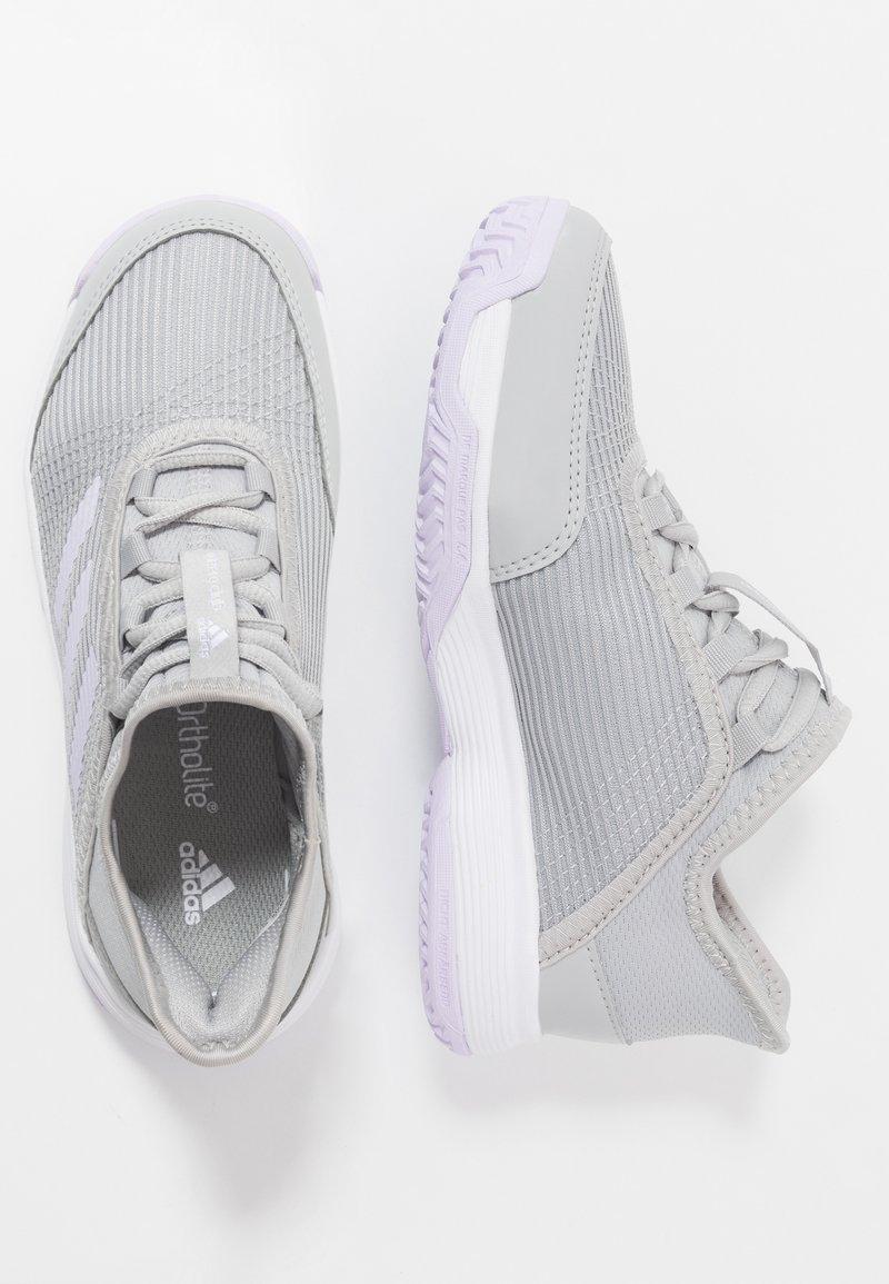 adidas Performance - ADIZERO CLUB - da tennis per terra battuta - grey two/purple tint/footwear white