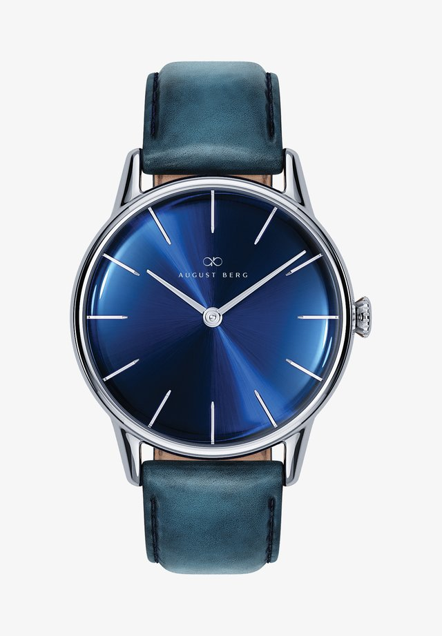UHR SERENITY DEEP BLUE SILVER BLUE LEATHER 32MM - Orologio - sunray blue