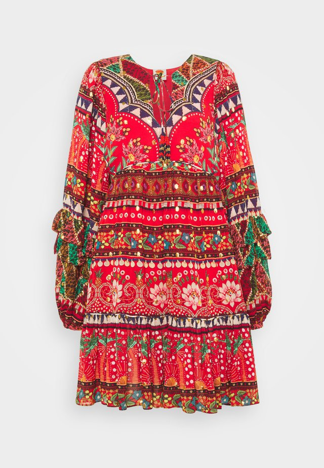 TROPICAL SHINE MINI DRESS - Vapaa-ajan mekko - multi