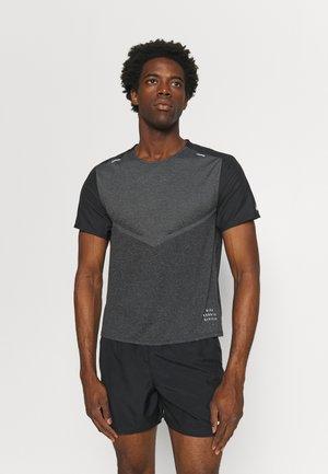 TECHKNIT ULTRA  - T-shirt imprimé - black/smoke grey