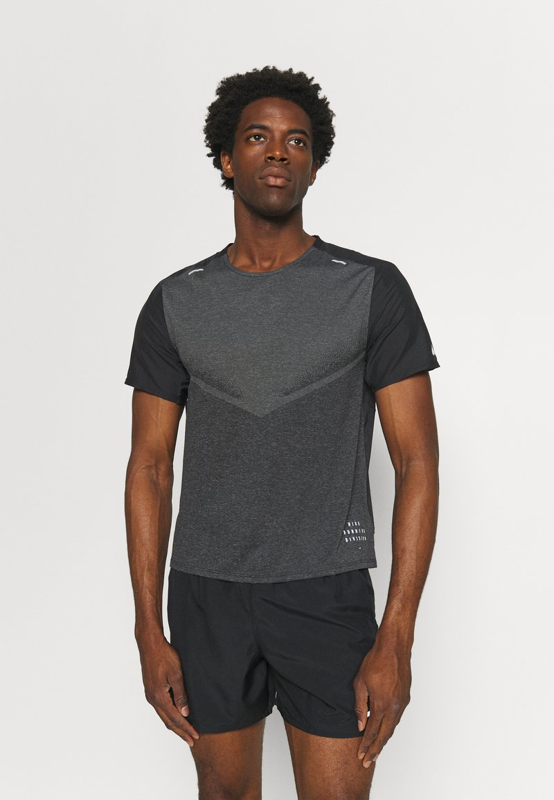 Nike Performance - TECHKNIT ULTRA  - T-shirt print - black/smoke grey