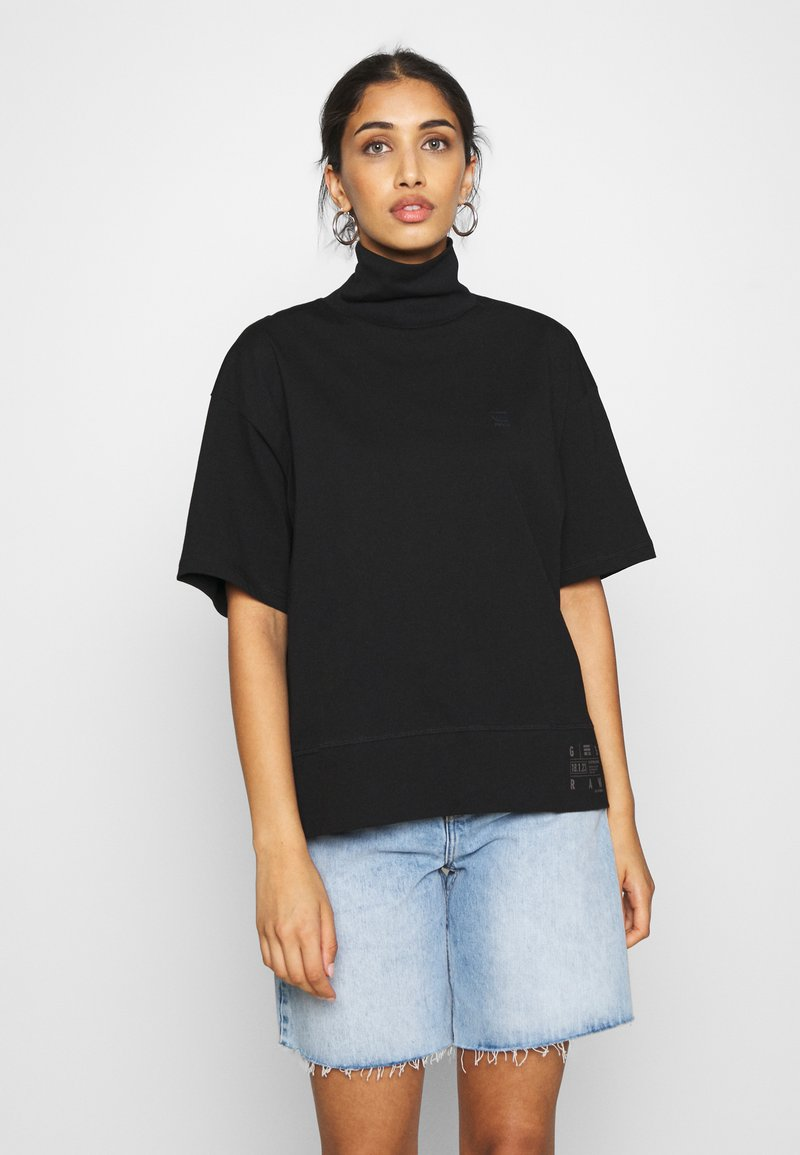 G-Star - CARRN LOOSE FUNNEL - T-shirt print - black