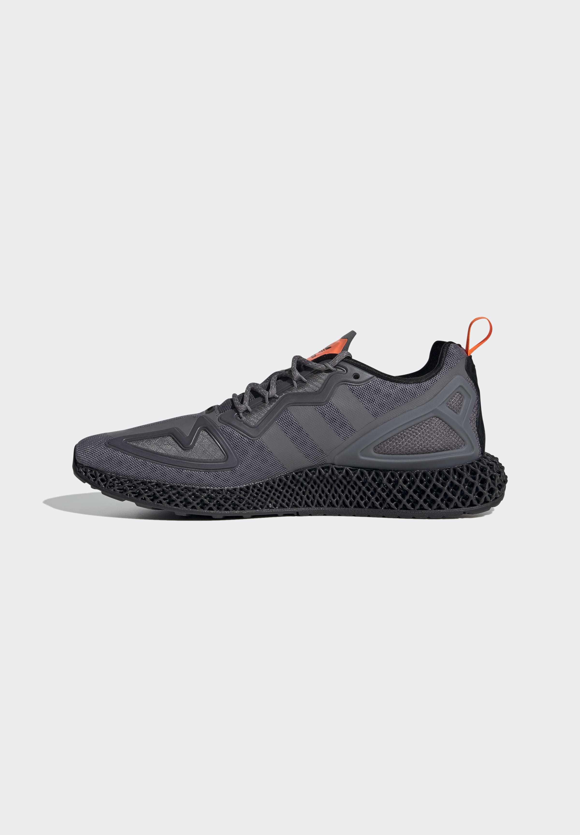 Adidas Originals Zx 4d - Joggesko Grey Four Core Black Solar Orange/antrasitt