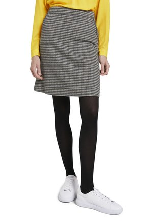 A-line skirt - beige brown check