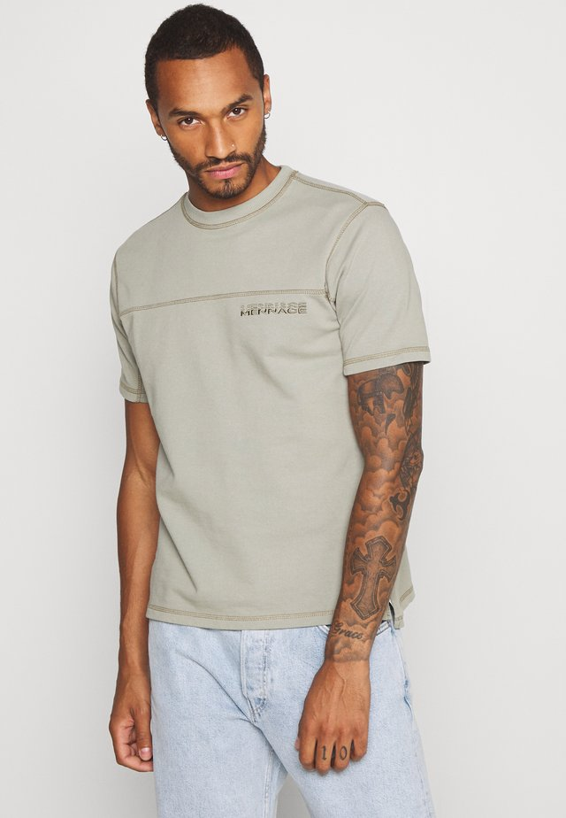 OVERLOCK - Camiseta básica - sage