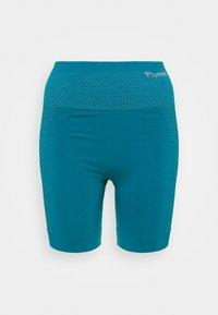 Hummel - HMLFELICITY SEAMLESS SHORTS - Leggings - mykonos blue - 4