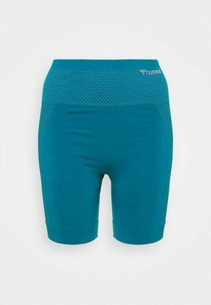 HMLFELICITY SEAMLESS SHORTS - Tights - mykonos blue