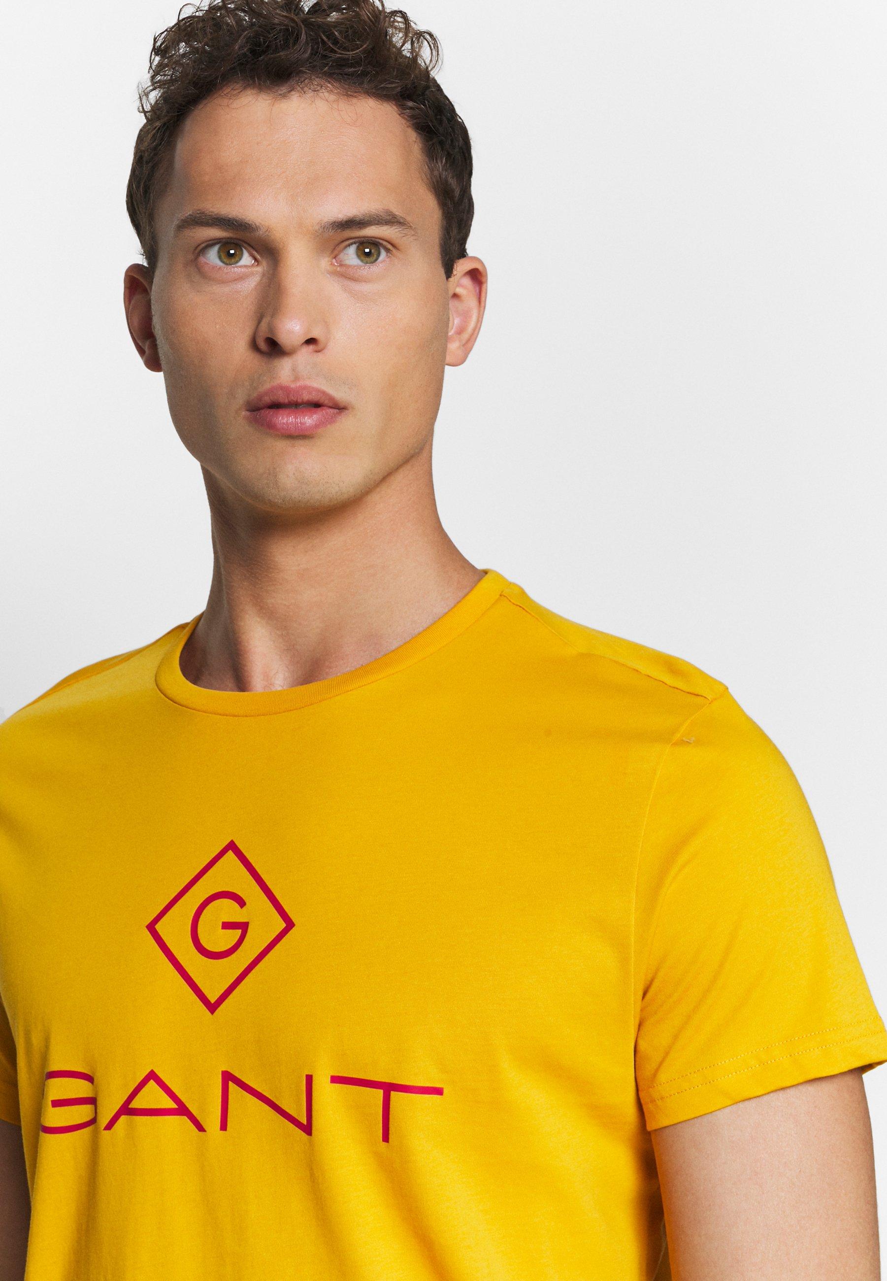 Gant Color Lock Up - T-shirts Med Print Ivy Gold/sennep