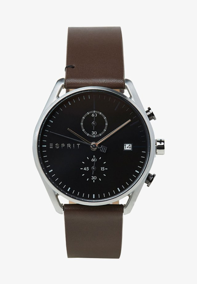 Chronograph watch - brown-coloured