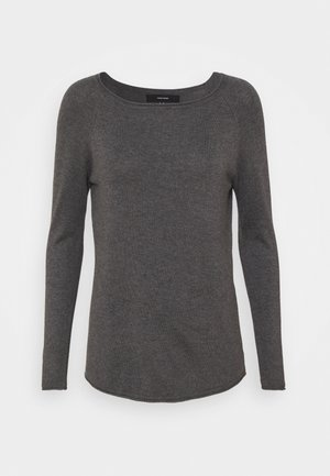 VMNELLIE GLORY LONG - Svetr - medium grey melange