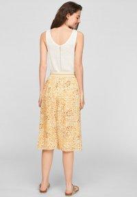 s.Oliver - A-line skirt - sunlight yellow aop - 2