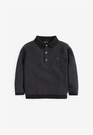 KNITTED - Poloshirt - black