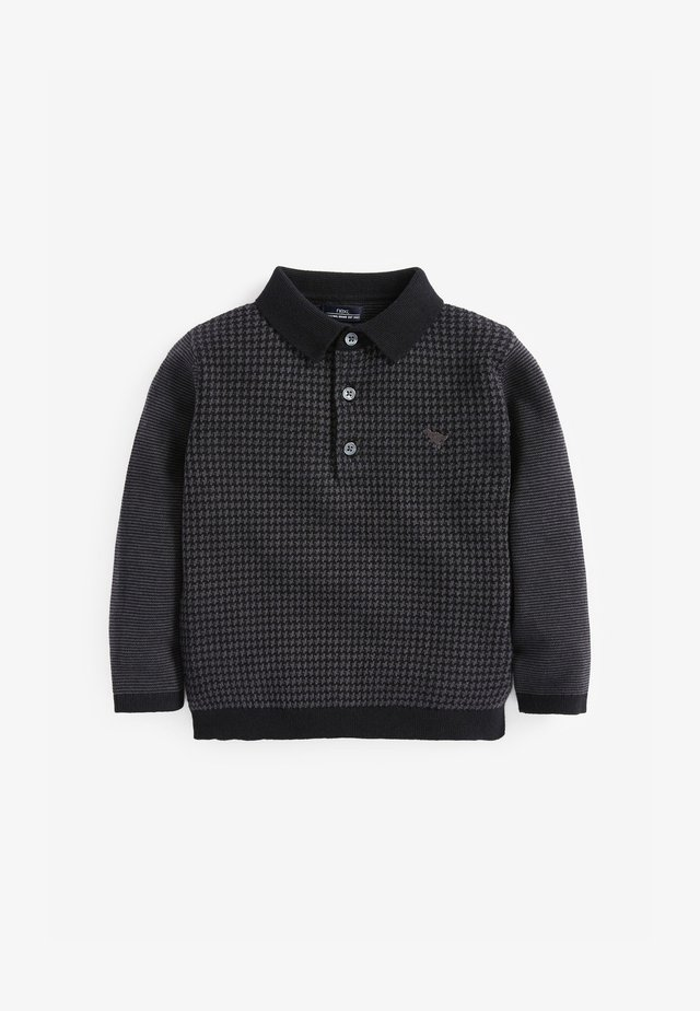 KNITTED - Poloshirt - black