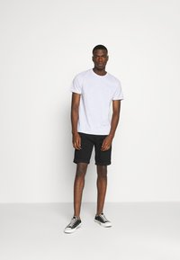 G-Star - 3301 SLIM SHORT - Denim shorts - elto nero black - 1