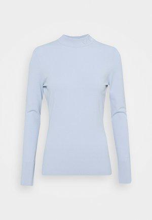 LOGO MOCK NECK - Jumper - cashmere blue