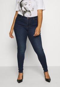 JUNAROSE - by VERO MODA - JRFOUR JAIME  - Jeans Skinny Fit - dark blue denim - 0