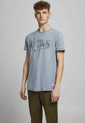 JPRBLUHUBERT TEE CREW NECK - T-shirt imprimé - flint stone
