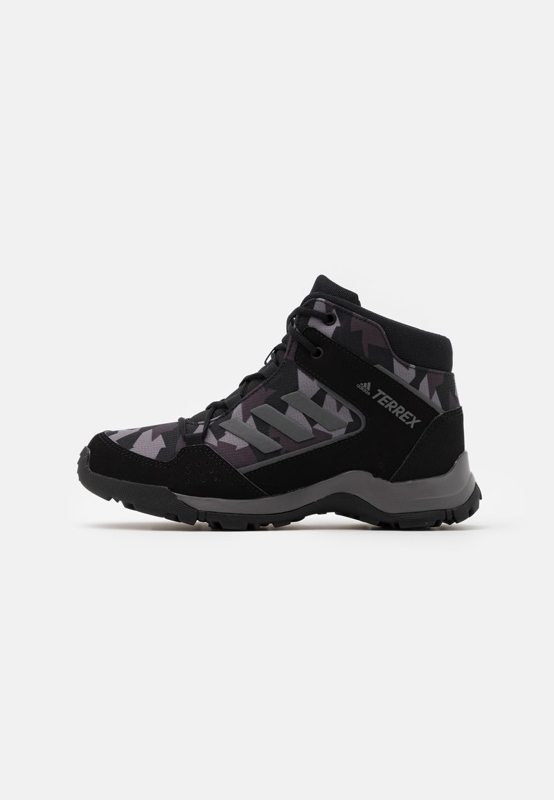 adidas Performance - TERREX HYPERHIKER UNISEX - Hiking shoes - core black/night grey