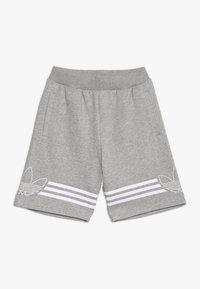 adidas Originals - OUTLINE - Shorts - medium grey heather/white - 0
