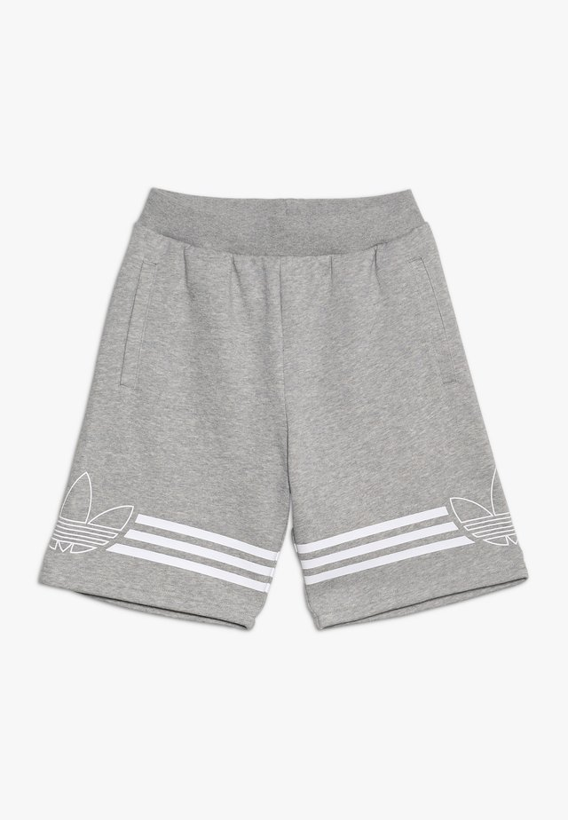 OUTLINE - Shorts - medium grey heather/white