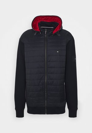 MIXED MEDIA HOODED ZIP - Giacca leggera - blue