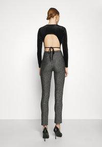 Gina Tricot - VELVET OPEN BACK - Long sleeved top - black - 2