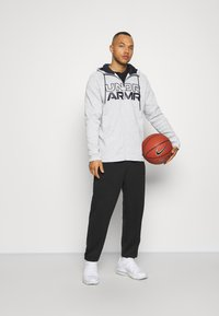 Under Armour - BASELINE FULL ZIP HOODIE - Hættetrøjer - mod gray full heather - 1
