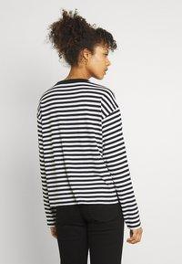 Monki - MAJA - Långärmad tröja - light blue/white/black dark - 2