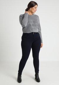 ONLY Carmakoma - CARANNA ANK - Jeans Skinny Fit - dark blue denim - 1