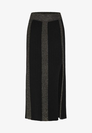 ROCK - Maxi skirt - black
