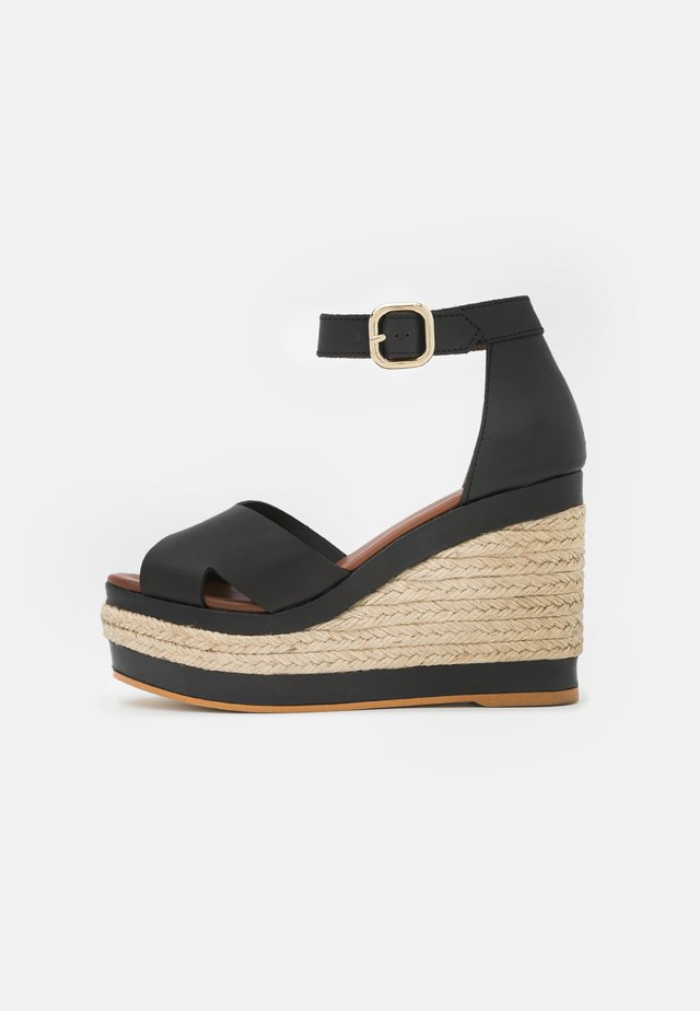 CITRONELLA - Sandalen met plateauzool - black